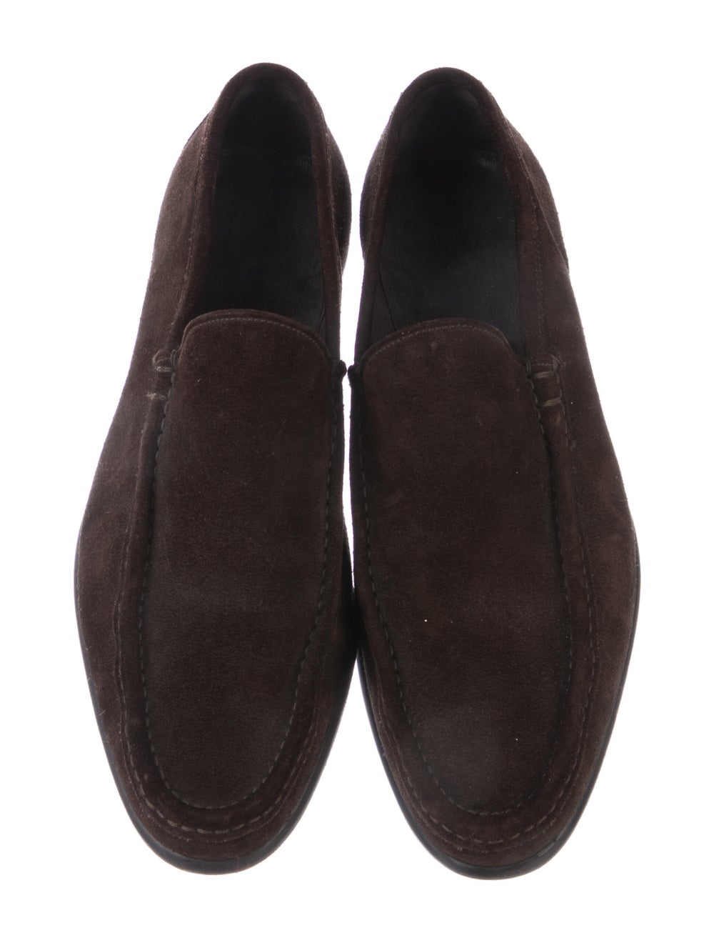 Gucci Suede Dress Loafers Brown - image 3
