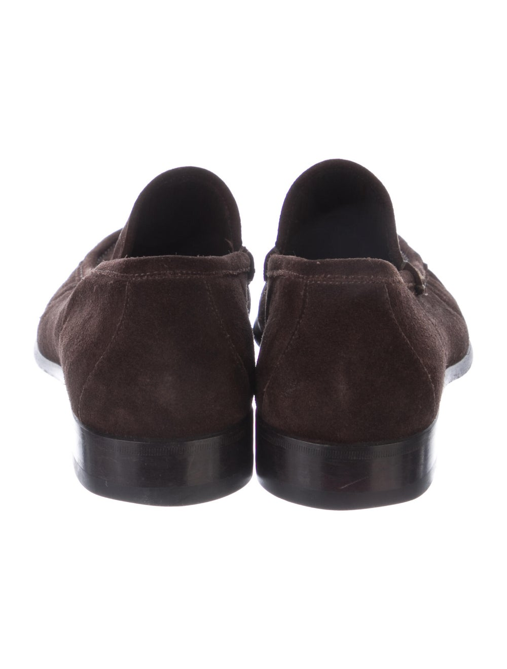 Gucci Suede Dress Loafers Brown - image 4