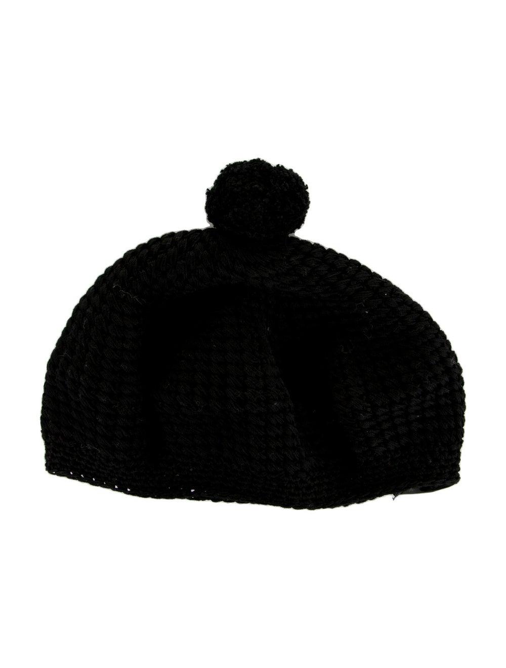 Gucci Knit Pom-Pom Beret Black - image 2