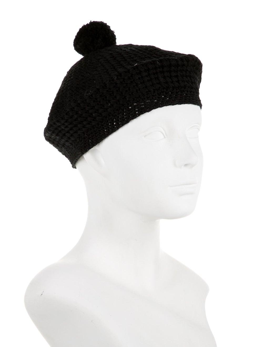 Gucci Knit Pom-Pom Beret Black - image 3
