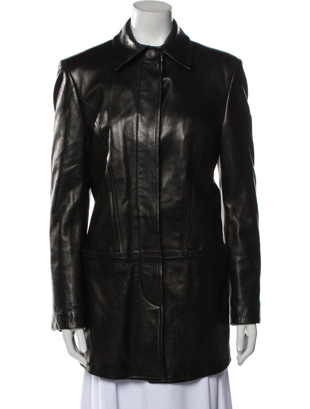 Gucci Vintage 1990's Trench Coat Black - image 1