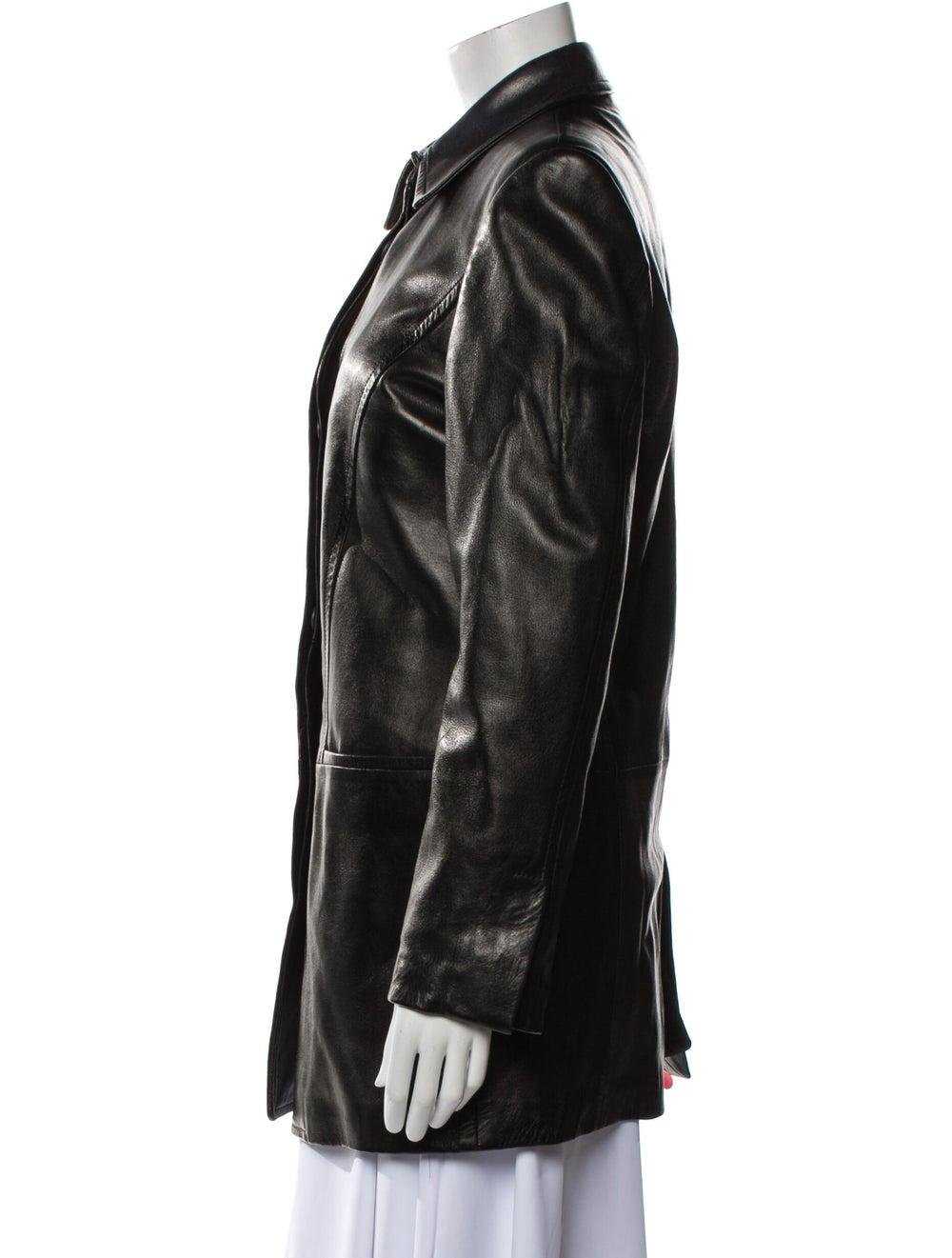 Gucci Vintage 1990's Trench Coat Black - image 2