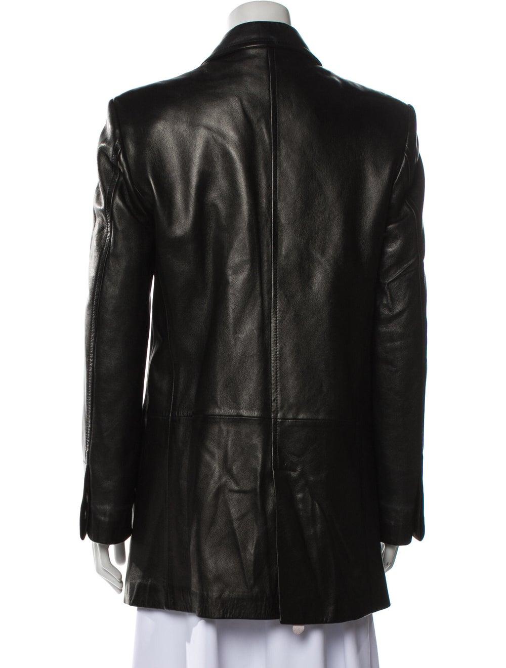 Gucci Vintage 1990's Trench Coat Black - image 3