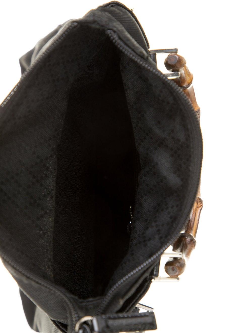 Gucci Bamboo Nylon Satchel Black - image 5