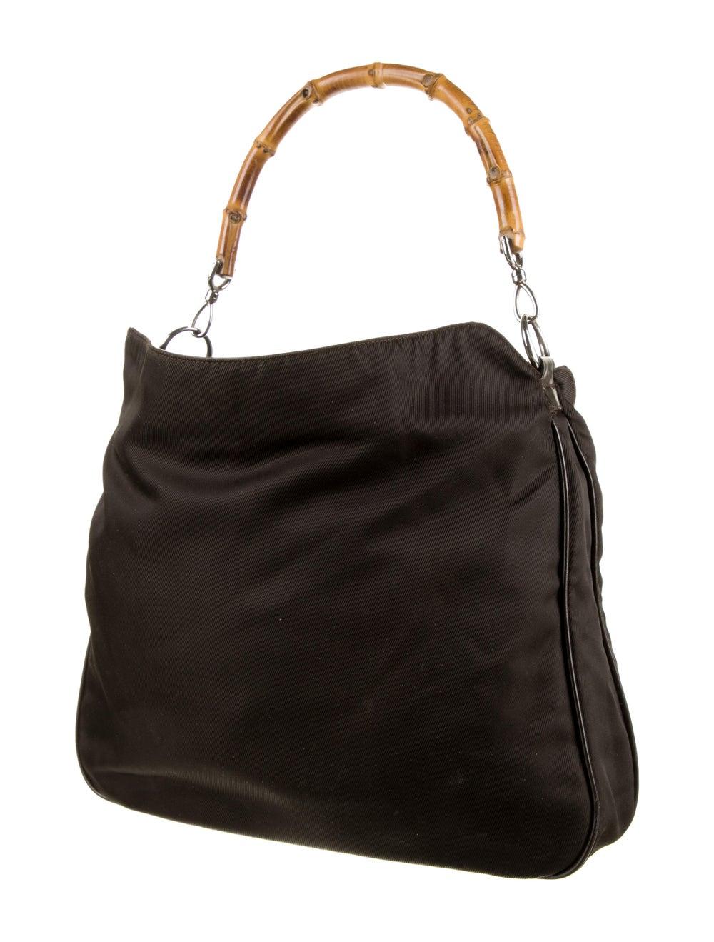 Gucci Vintage Bamboo Handle Bag Brown - image 3