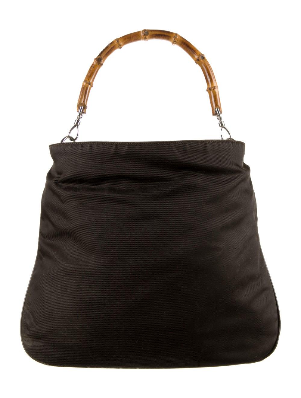 Gucci Vintage Bamboo Handle Bag Brown - image 4