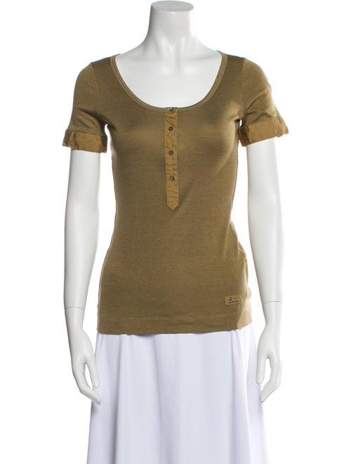 Gucci Vintage Silk T-Shirt Green