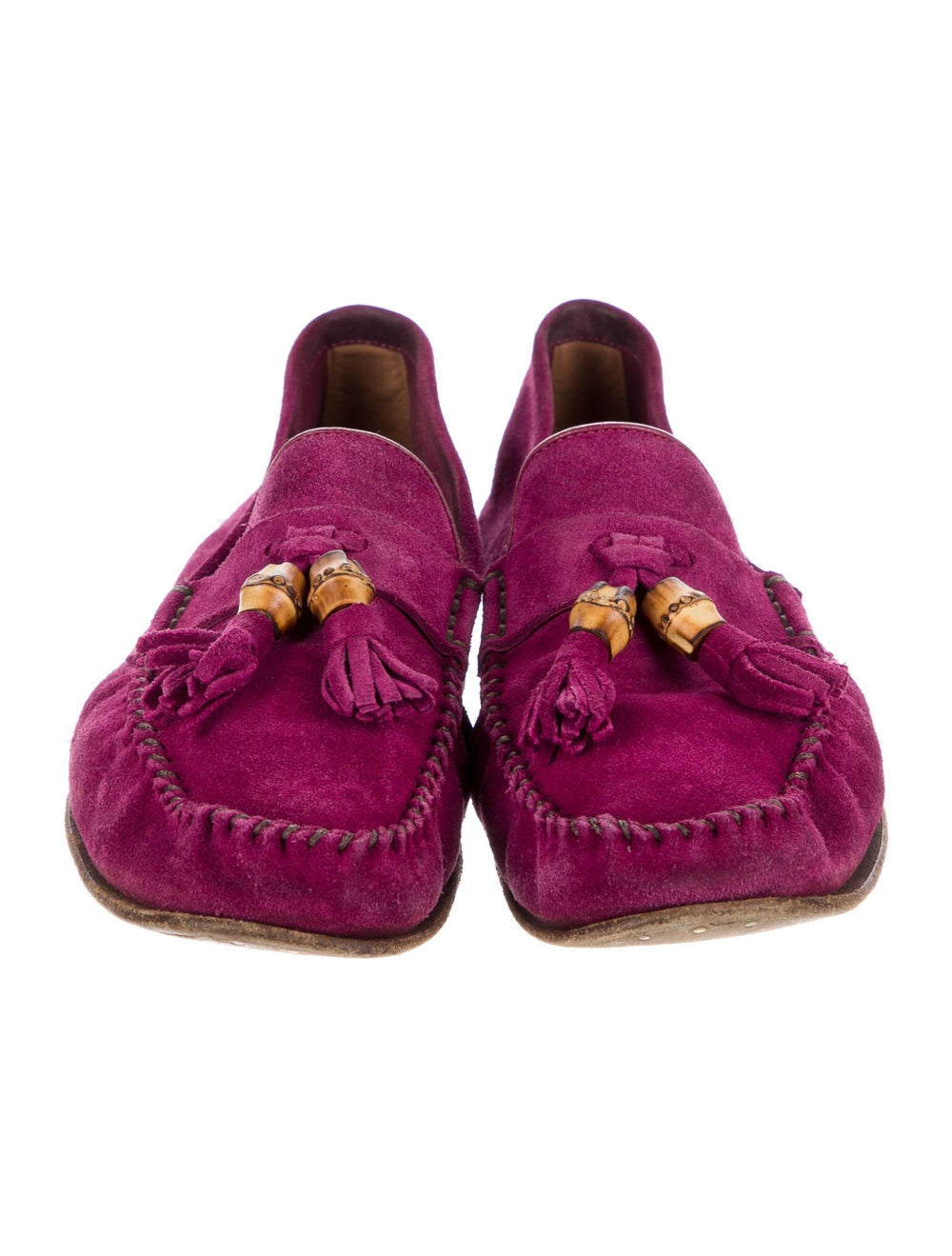 Gucci Suede Tassel Accents Loafers Purple - image 3
