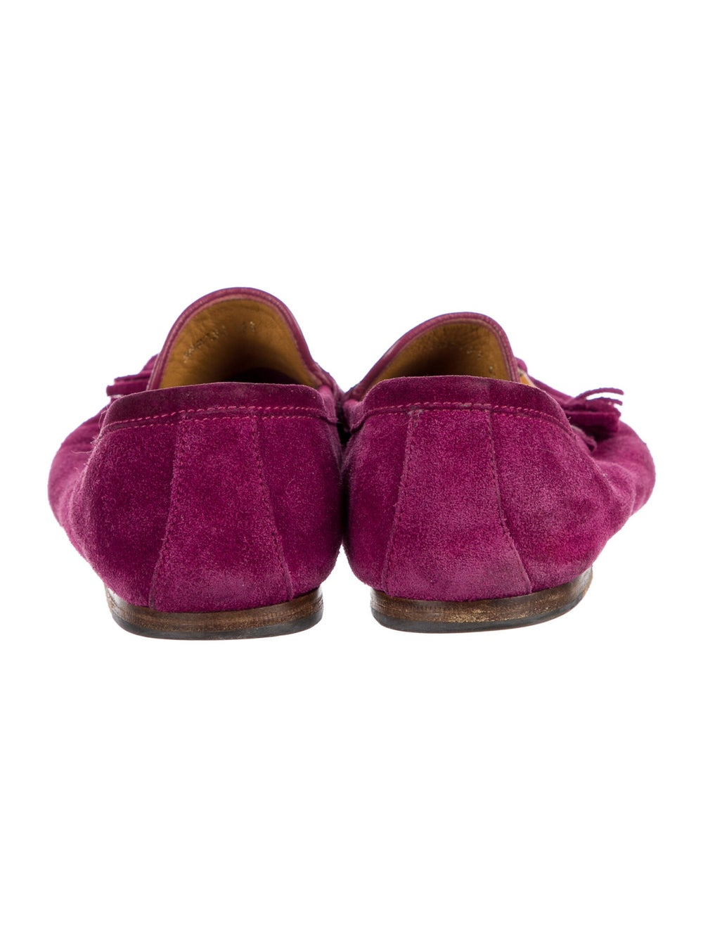 Gucci Suede Tassel Accents Loafers Purple - image 4