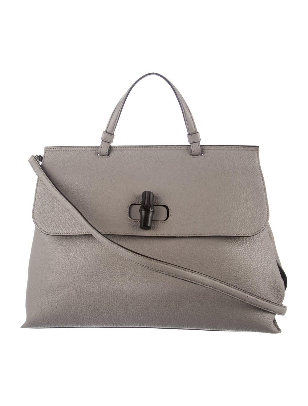 Gucci Large Daily Bamboo Handle Bag Grey - image 1