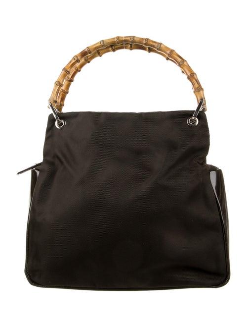 Gucci Vintage Nylon Bamboo Handle Bag Brown - image 1
