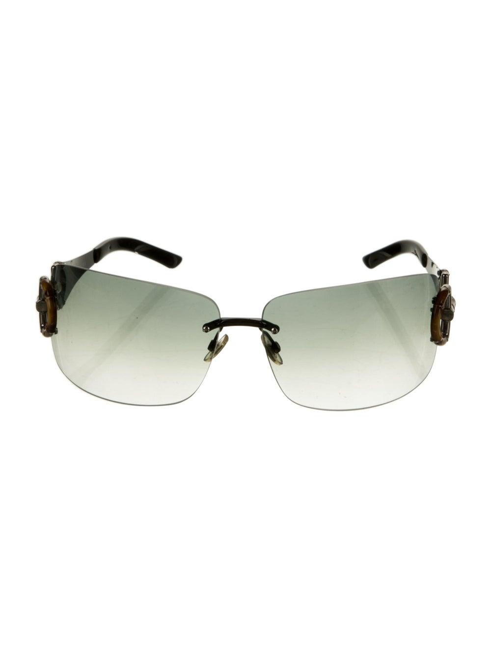 Gucci Bamboo Accent Shield Sunglasses Black - image 1