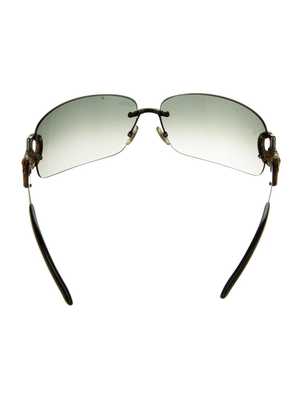 Gucci Bamboo Accent Shield Sunglasses Black - image 3
