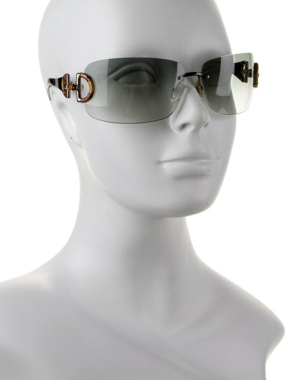 Gucci Bamboo Accent Shield Sunglasses Black - image 4