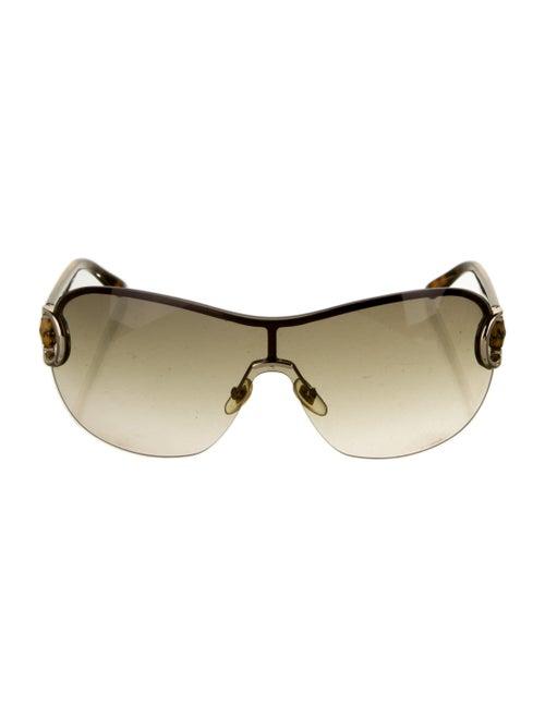 Gucci Bamboo Accent Shield Sunglasses Brown