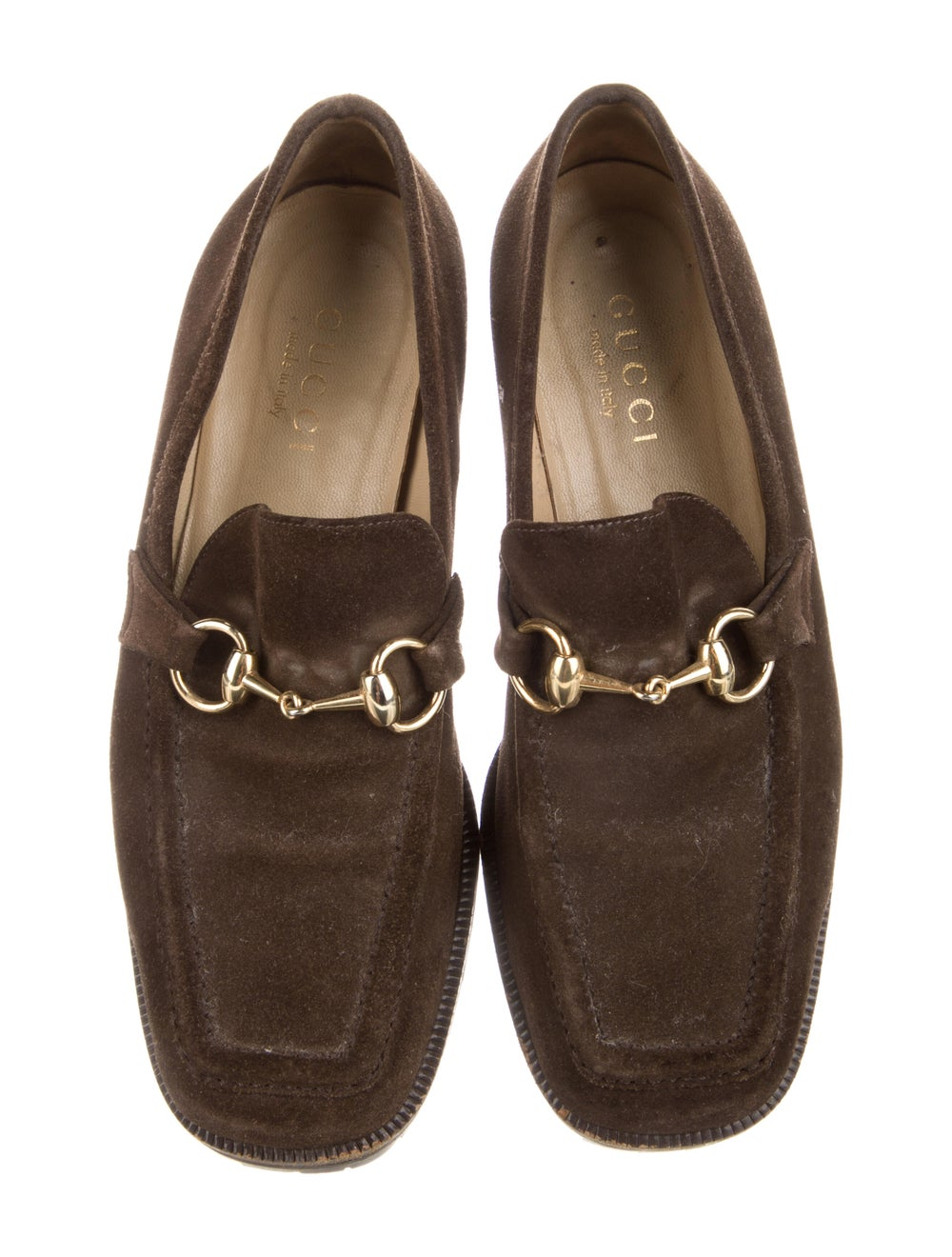 Gucci Horsebit Accent Suede Loafers Brown - image 3