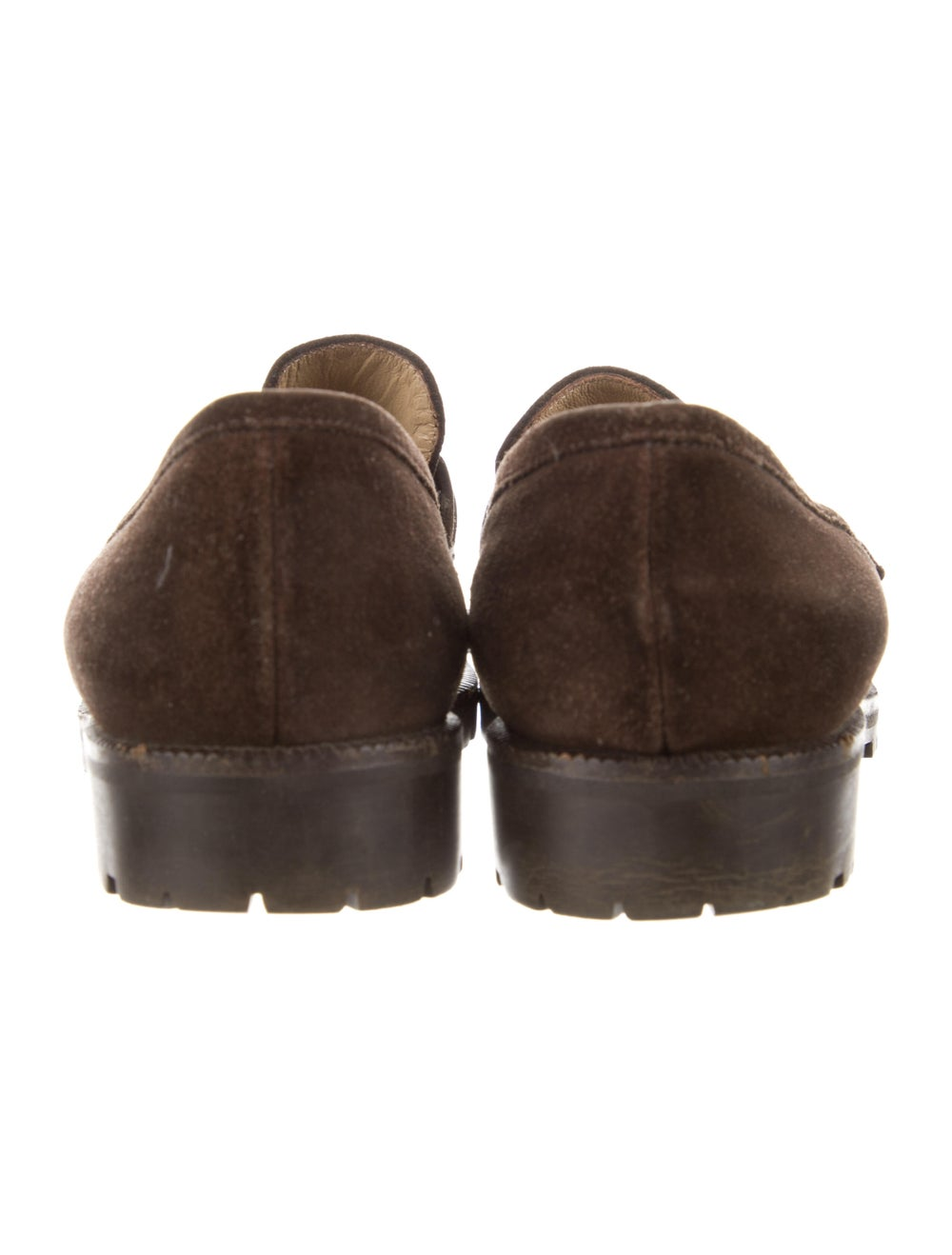 Gucci Horsebit Accent Suede Loafers Brown - image 4