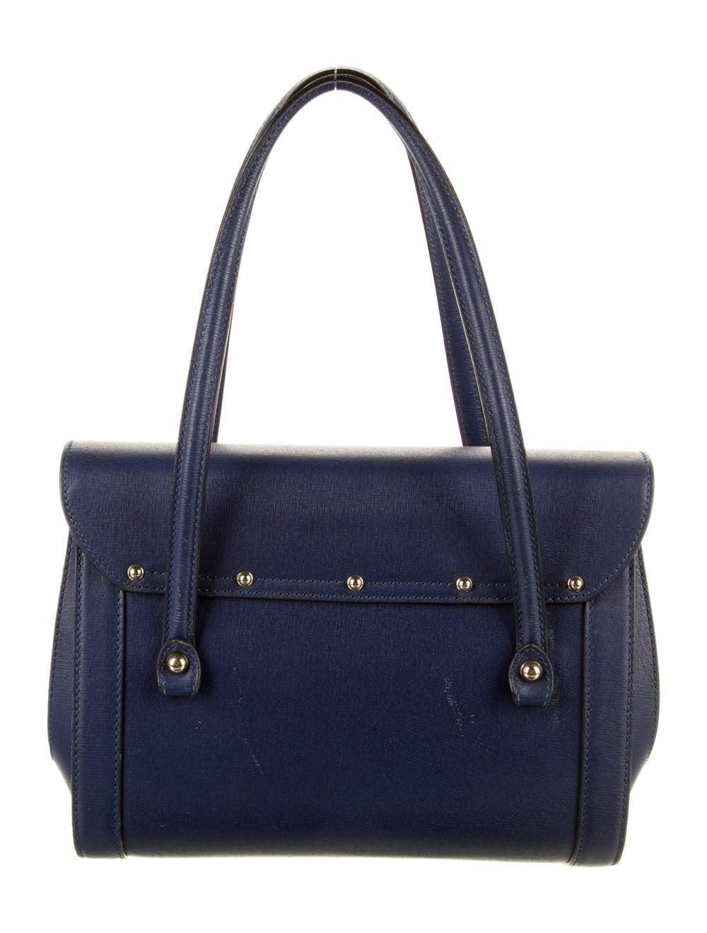 Gucci Leather Bamboo Bullet Shoulder Bag Blue - image 4