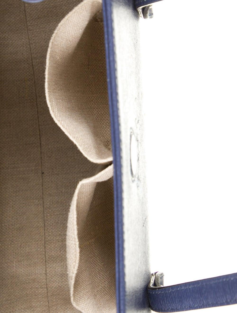 Gucci Leather Bamboo Bullet Shoulder Bag Blue - image 5