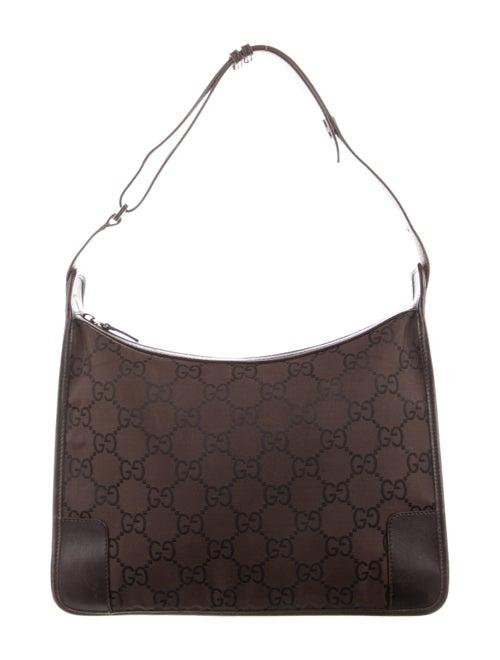 Gucci Nylon Shoulder Bag Brown