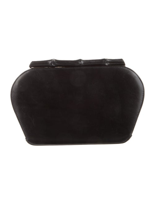 Gucci Vintage Bamboo Leather Clutch Black