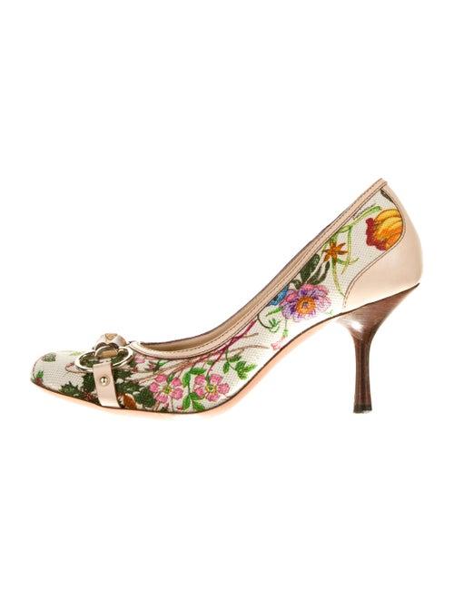 Gucci Floral Print Pumps