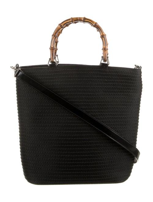 Gucci Bamboo Canvas Handbag Black