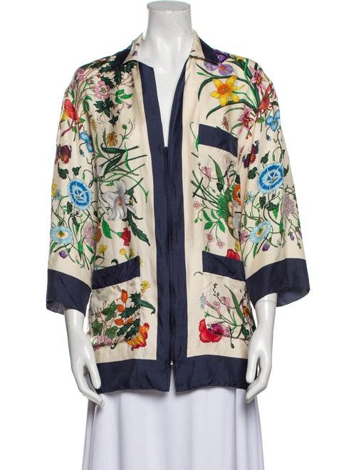 Gucci Floral Print Silk Silk Tunic
