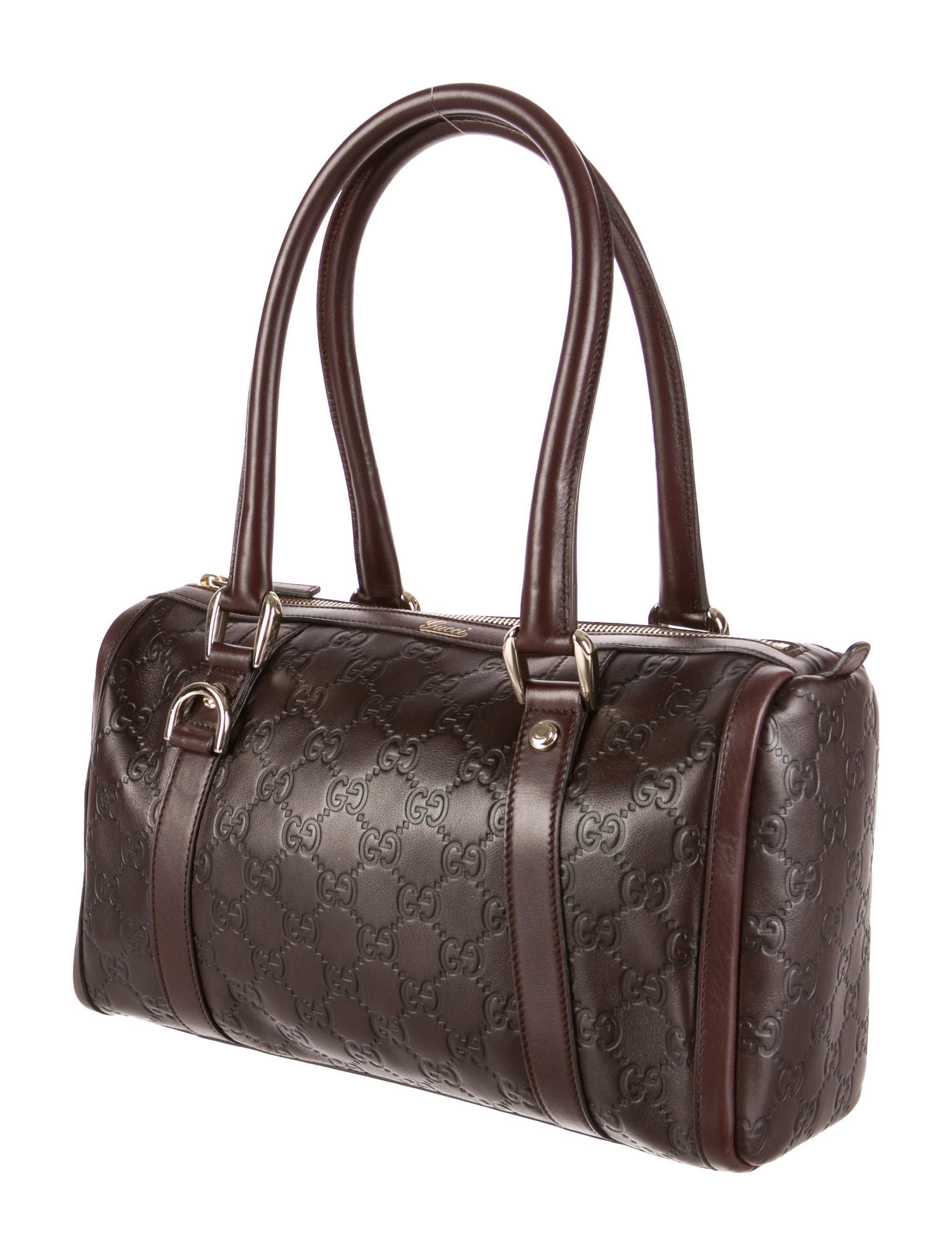 Boston Bag Patchwork Tutorial: Gucci Guccissima Boston Bag - Handbags - GUC76669