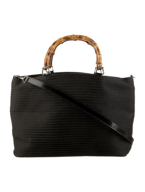 Gucci Bamboo Nylon Tote Bag Black