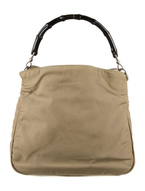 Gucci Vintage Nylon Bamboo Diana Top Handle Bag Si
