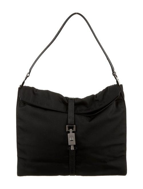 Gucci Jackie Nylon Shoulder Bag Black