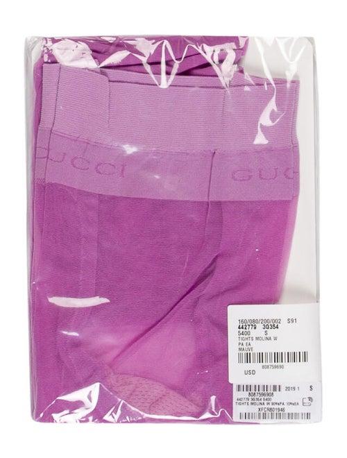 Gucci Logo Woven Tights Purple
