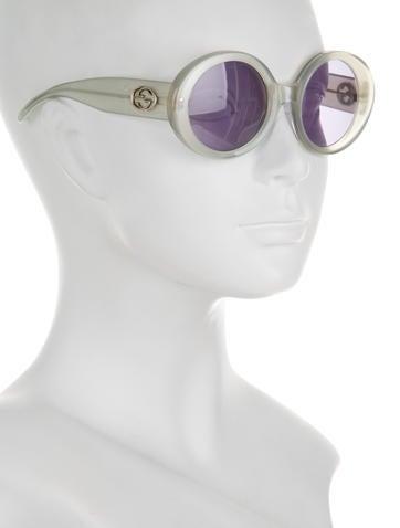 Green Circular Sunglasses