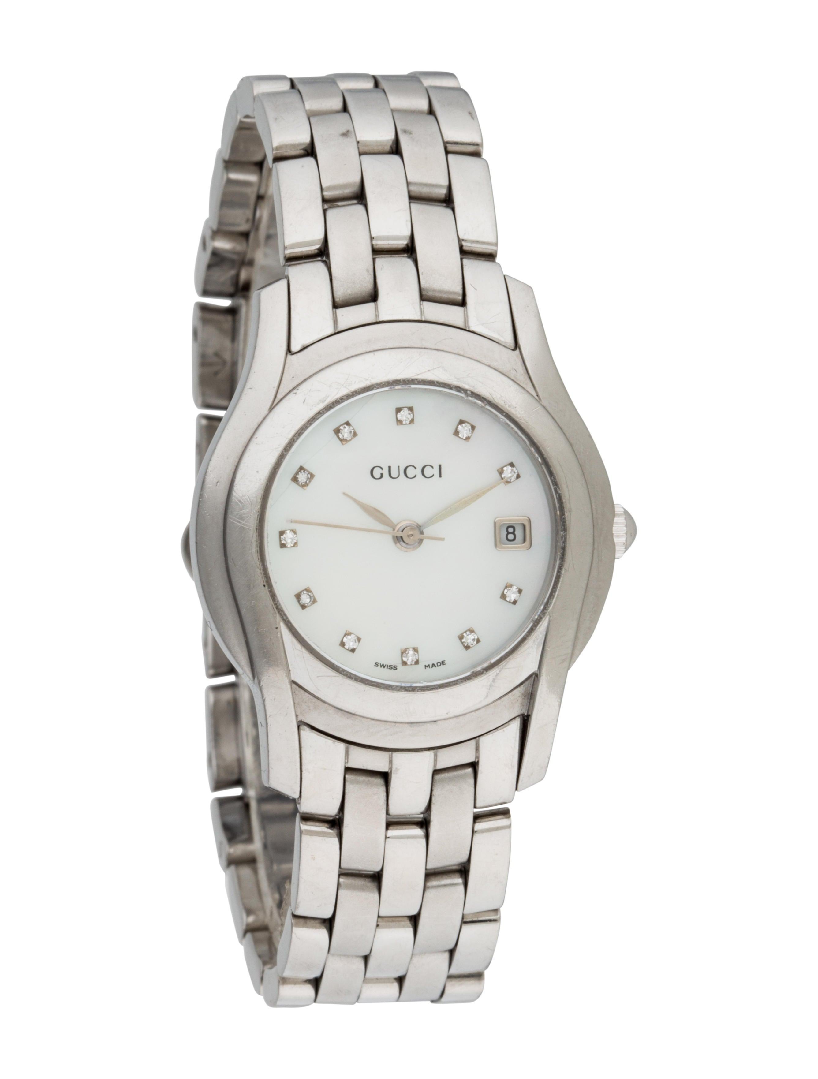 fbd8ab11130 Gucci 5500L Diamond Watch - Bracelet - GUC77390