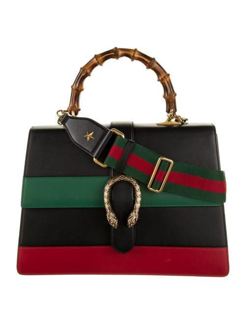 Gucci Large Dionysus Bamboo Handle Bag Black