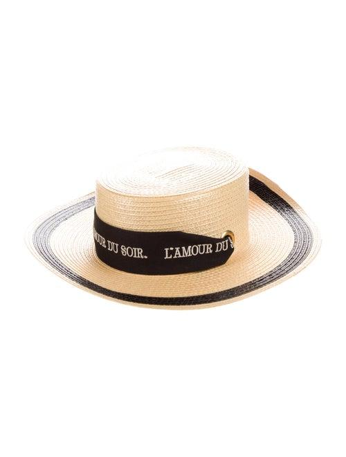 Gucci 2020 S/S Straw Effect Wide Brim Hat w/ Tags