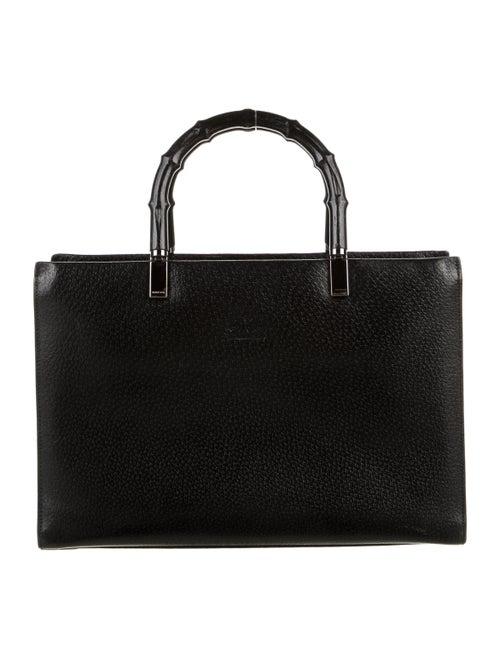 Gucci Vintage Bamboo Handle Bag Black