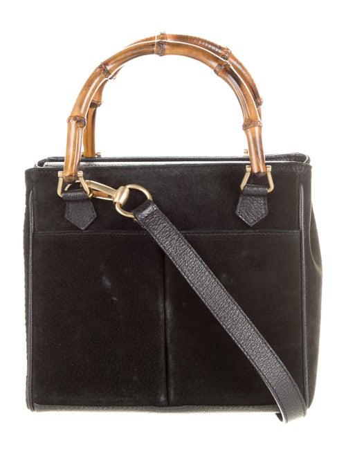 Gucci Vintage Diana Mini Bamboo Handle Bag Black