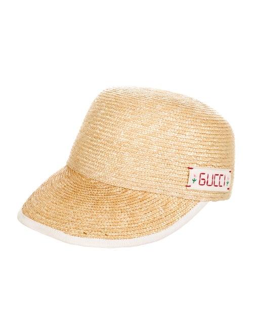 Gucci Straw Logo Baseball Hat Tan