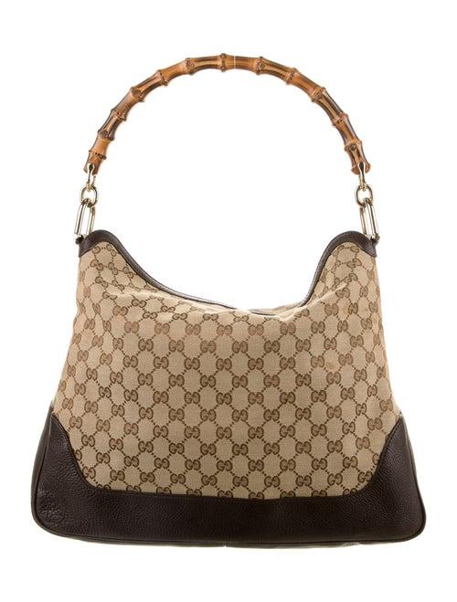 Gucci GG Canvas Medium Diana Bamboo Shoulder Bag B
