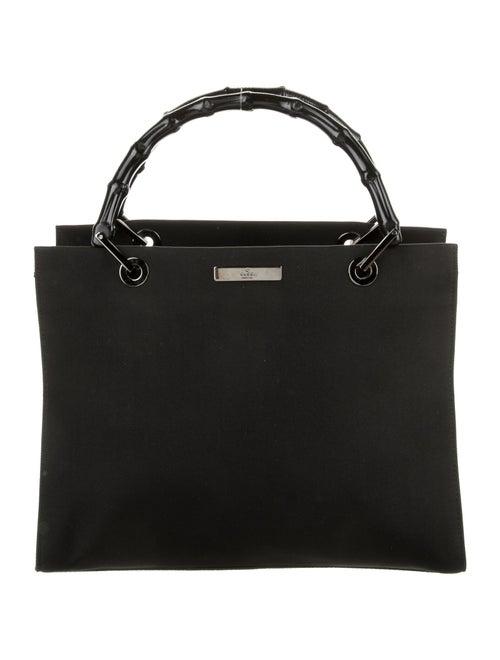 Gucci Bamboo Nylon Handbag Black