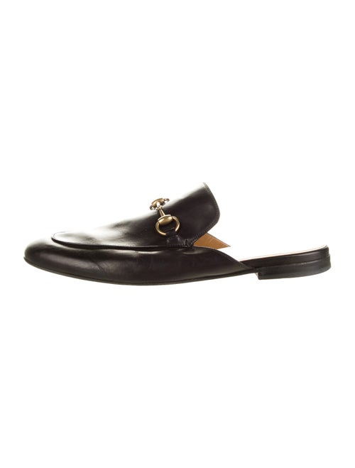 Gucci 1955 Horsebit Accent Leather Slippers Black
