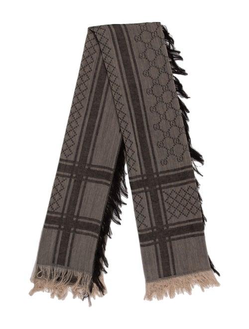 Gucci Wool Diamante Print Scarf w/ Tags Wool