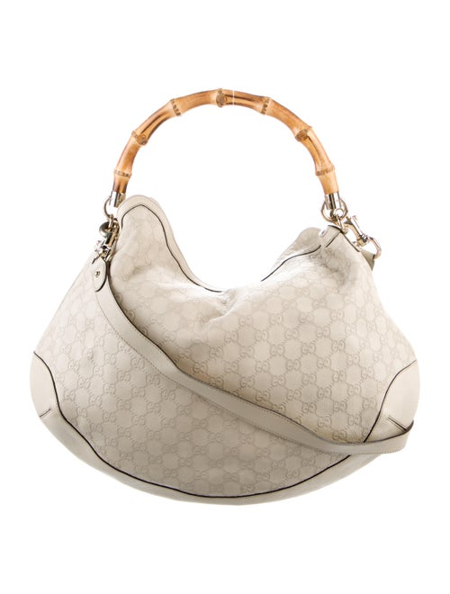 Gucci Guccissima Peggy Bamboo Top Handle Bag