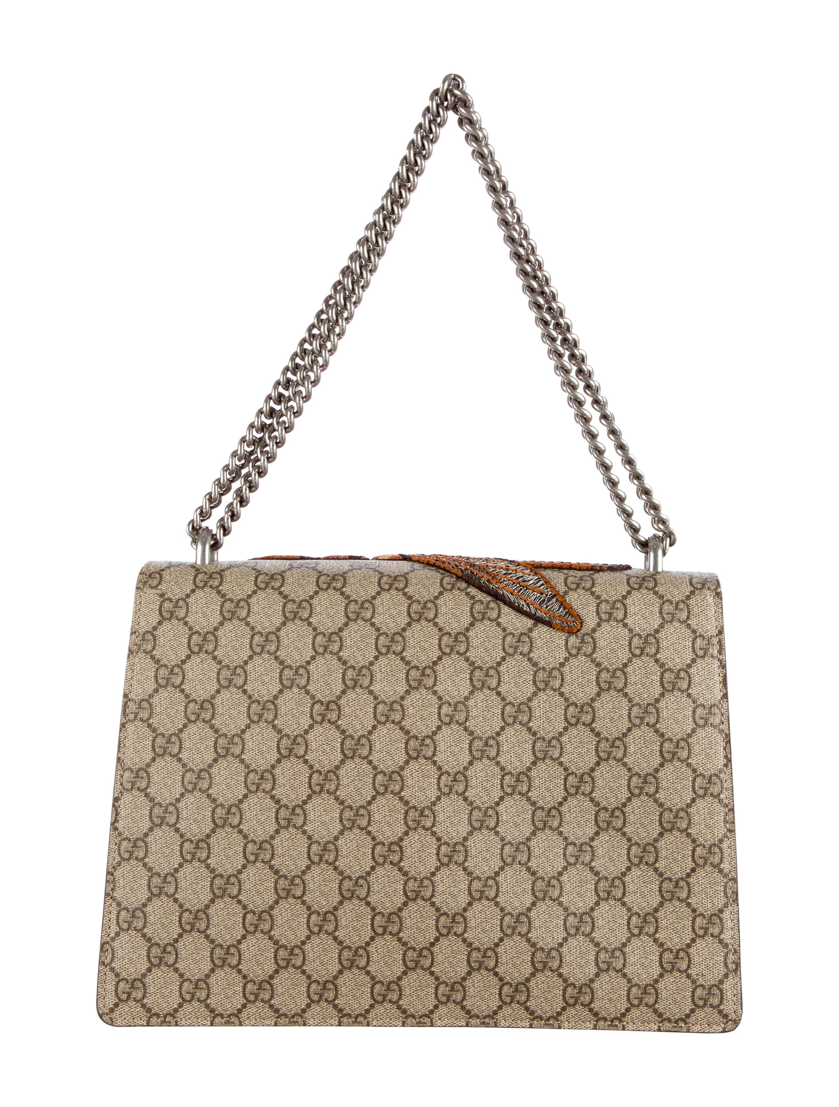 c276aae1526355 Gucci GG Supreme Dionysus Bag - Handbags - GUC77953   The RealReal. GUCCI  Dionysus Gg Small Velvet Shoulder ...