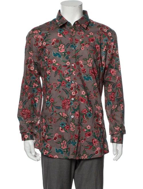 Gucci Floral Print Long Sleeve Shirt w/ Tags