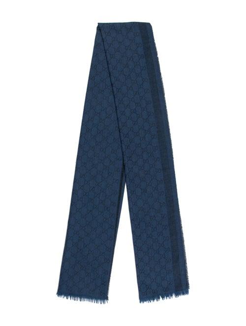 Gucci Wool GG Logo Scarf Wool
