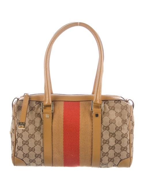 Gucci Vintage GG Canvas Boston Bag Gold
