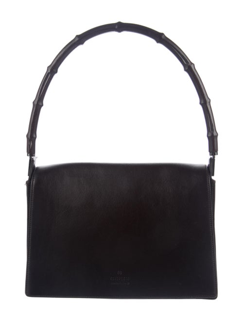 Gucci Vintage Bamboo Handle Bag Brown